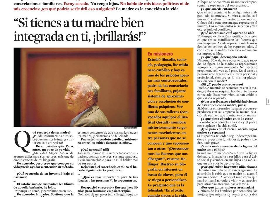 Entrevista a Bert Hellinger, creador de la psicoterapia de constelaciones familiares.